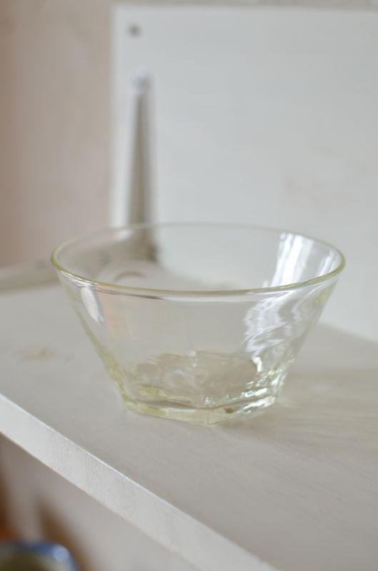 画像1: 石川硝子工藝舎 面取り鉢(中)