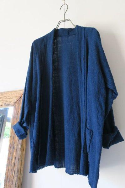 画像1: MITTAN   SNチャルカkalaコットンジャケット(草木濃染) 藍(濃) サイズ2 (1)
