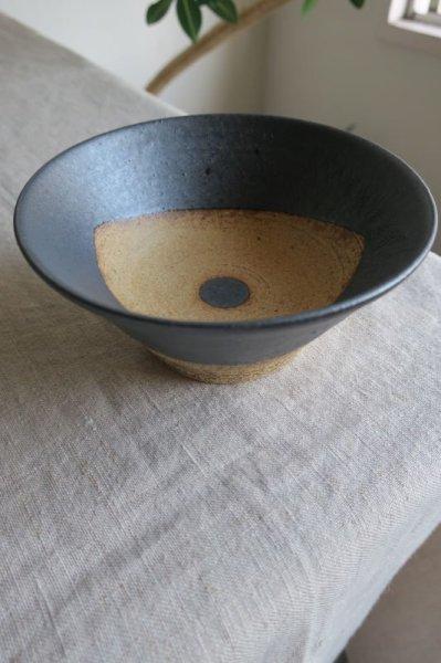 画像1: 陶器工房 壹 WAKUTA 4寸マカイ ブラック (1)