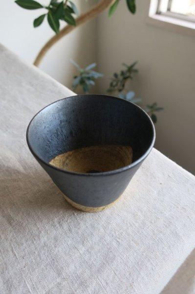 画像1: 陶器工房 壹 mintama カップ小 ブラック (1)
