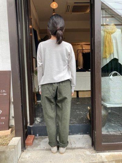 画像2: MITTAN  亜麻苧麻ロング 濃緑 サイズ1