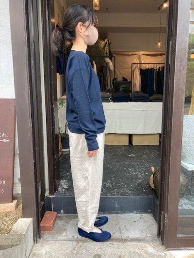 画像2: MITTAN  強撚ウールニット長袖 紺緑 サイズ1