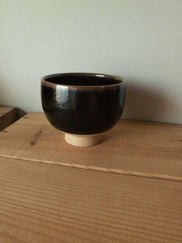 画像1: 高台碗(黒・小)