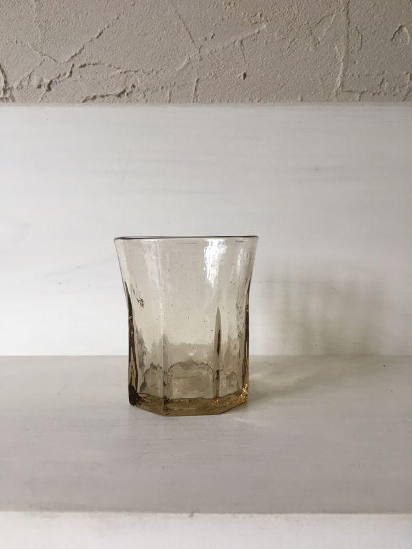 画像1: 石川硝子工藝舎 八角コップ(茶)