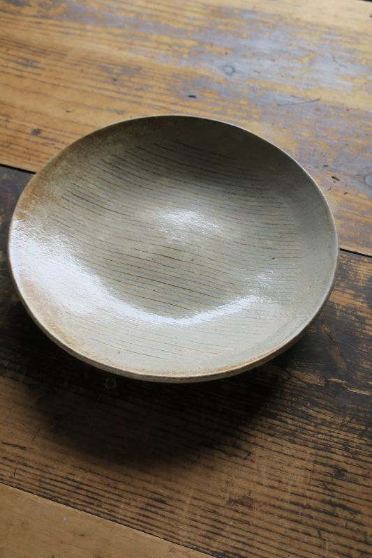 画像1: 牧谷窯 杉本義訓 練りこみ9寸皿