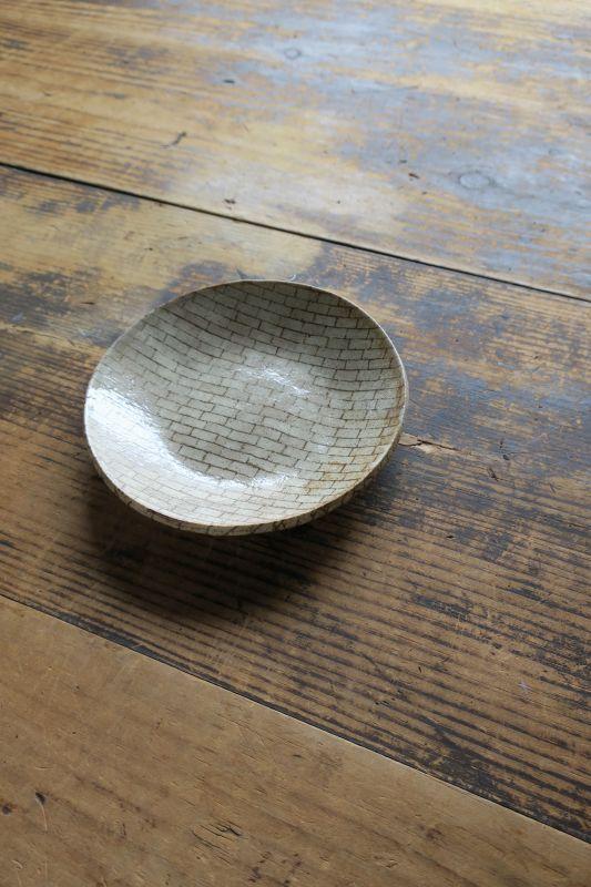 画像1: 牧谷窯 杉本義訓 練りこみ五寸皿