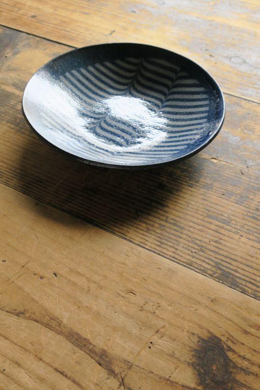 画像1: 牧谷窯 杉本義訓 練りこみ7.5寸皿