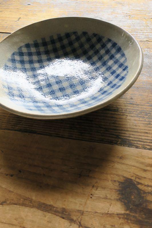 画像1: 牧谷窯 杉本義訓 練りこみ8,5寸皿