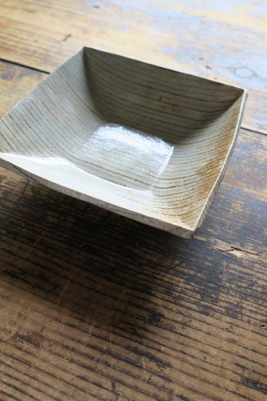 画像1: 牧谷窯 杉本義訓 練りこみ角鉢(大)