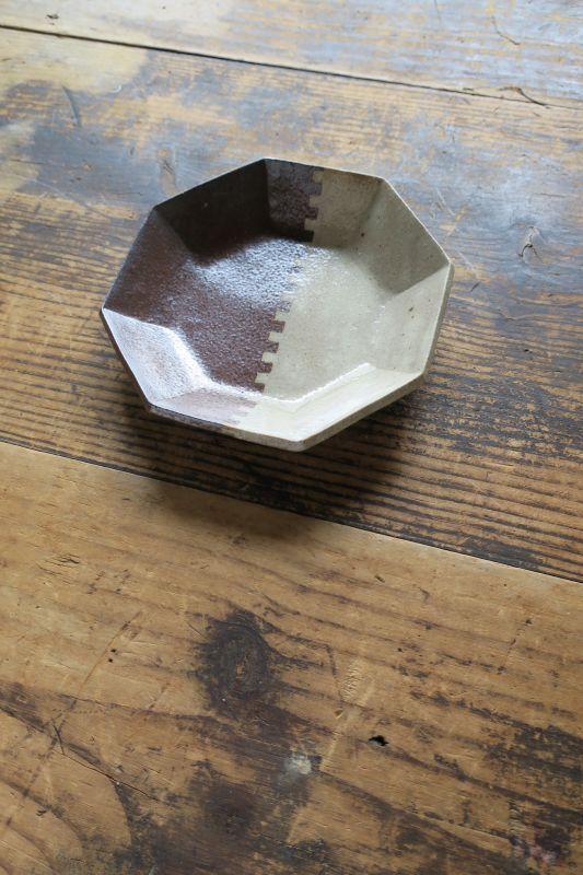 画像1: 牧谷窯 杉本義訓 練りこみ八角形皿(中)