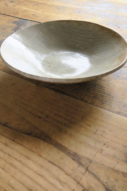 画像1: 牧谷窯 杉本義訓 練りこみ8.5寸皿