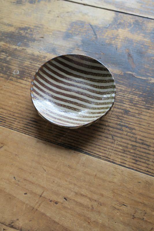 画像1: 牧谷窯 杉本義訓 練りこみ四寸皿