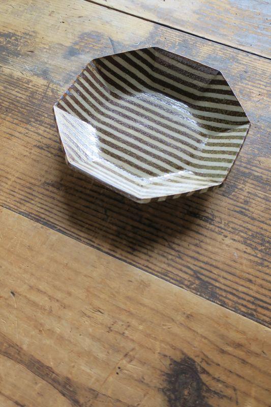 画像1: 牧谷窯 杉本義訓 練りこみ八角形皿(大)