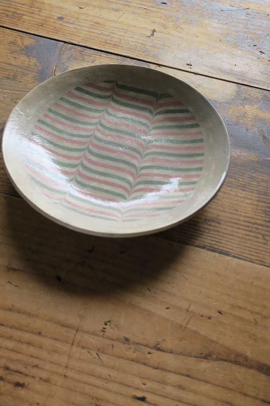 画像1: 牧谷窯 杉本義訓 練りこみ8寸皿