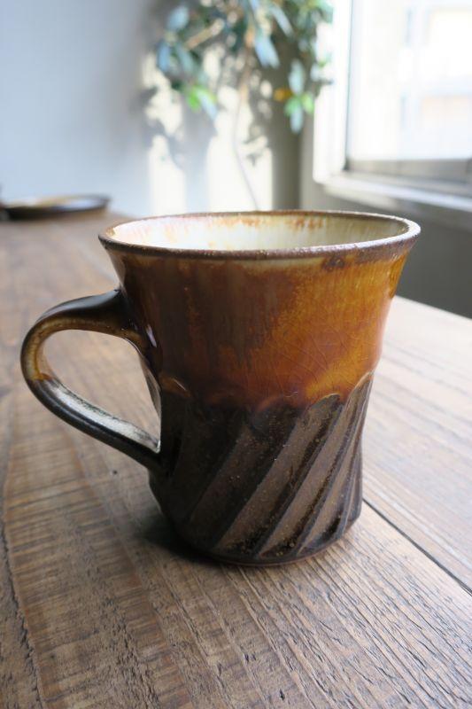 画像1: 小代焼ふもと窯 マグカップ