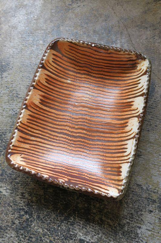 画像1: つくも窯・十場天伸 薪窯スリップウエア