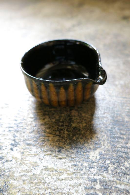 画像1: つくも窯・十場天伸 スリップ片口(小)