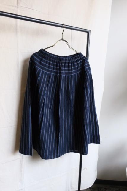 画像1: ヤンマ産業 会津木綿タックスカート(大名縞)