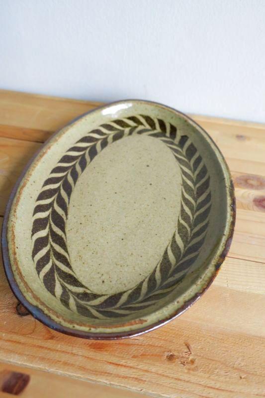 画像1: 掛谷康樹 練上手楕円皿(8寸)