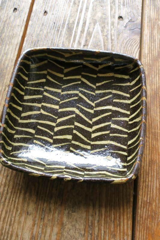 画像1: 掛谷康樹 練上手浅角鉢(6寸)