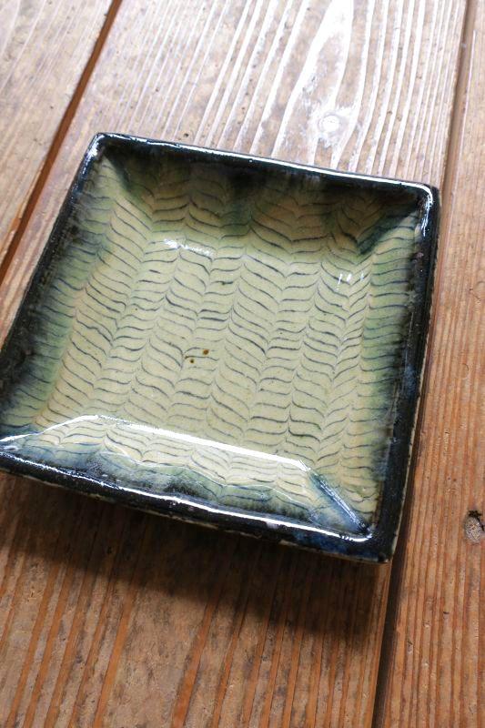 画像1: 掛谷康樹 練上手角皿(5寸)