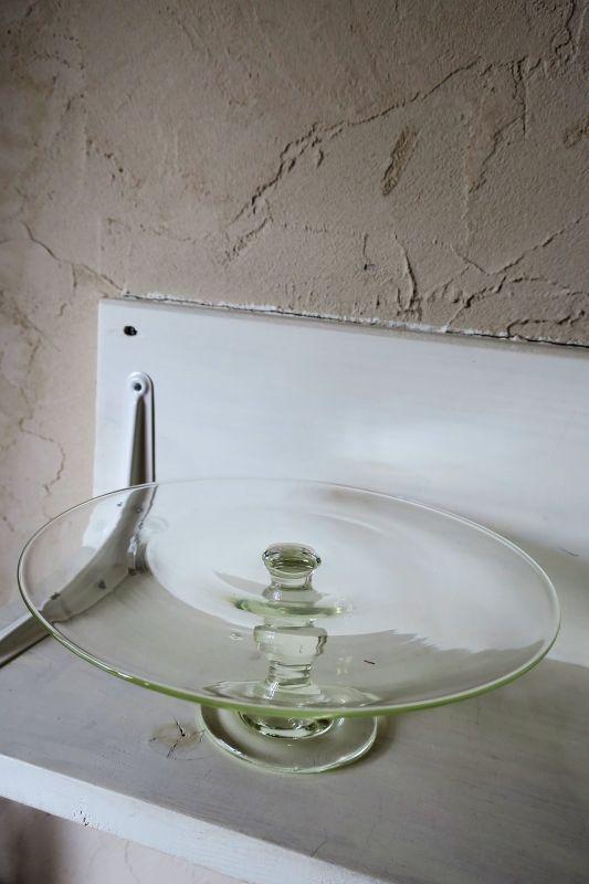 画像1: 石川硝子工藝舎 台皿(大)