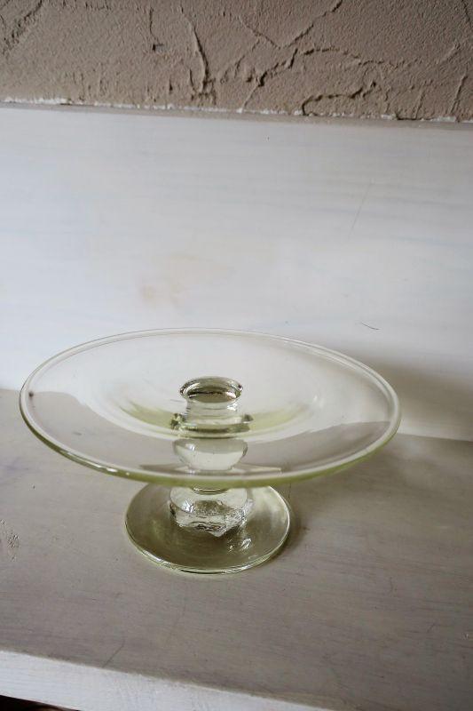 画像1: 石川硝子工藝舎 台皿(小)