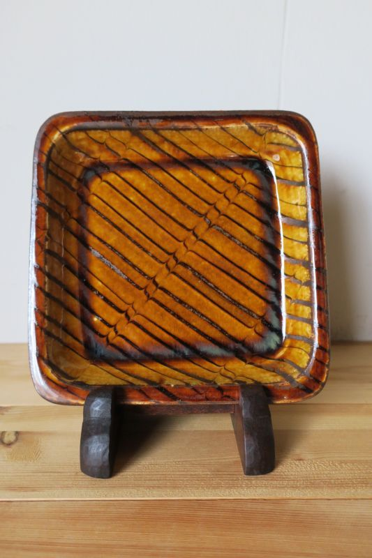画像1: 小代焼ふもと窯 食パン皿2
