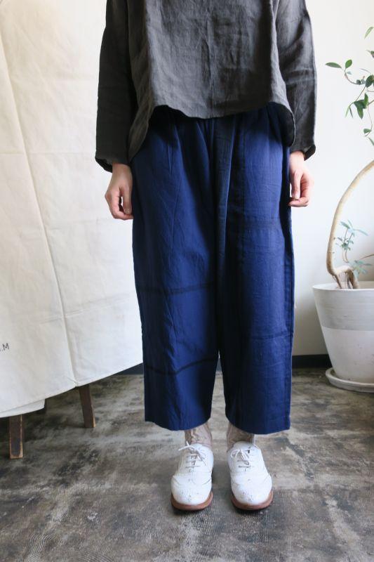 画像1: tamaki niime luzu pants (ネイビー)