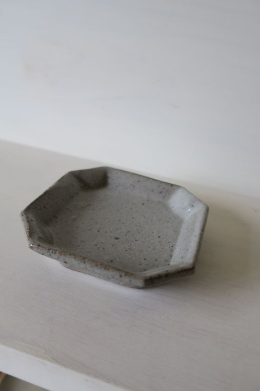 画像1: 寺村光輔 泥並釉 隅入小皿