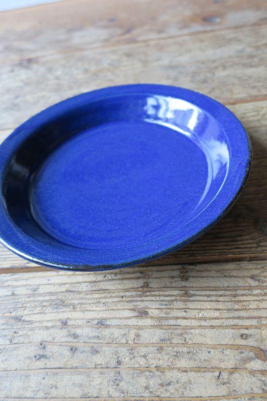 画像1: 寺村光輔 瑠璃釉 7寸リム浅皿