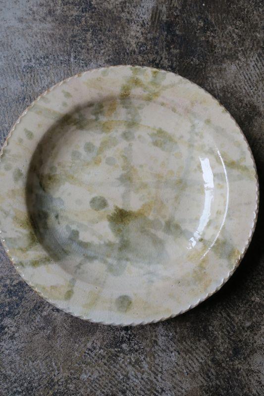 画像1: 前野直史 8寸 リム皿5