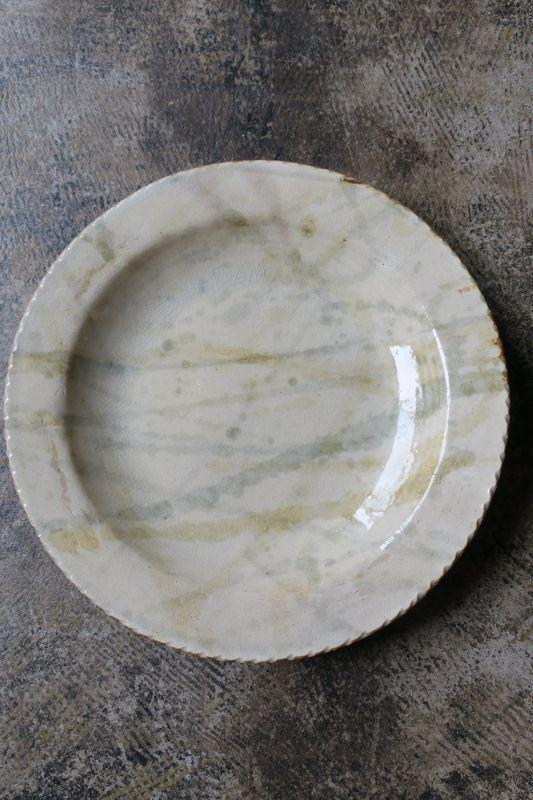 画像1: 前野直史 8寸 リム皿3