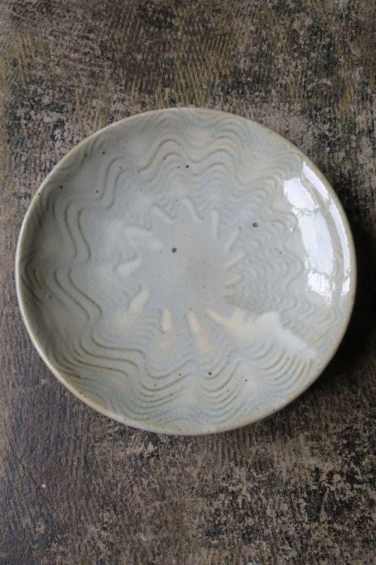 画像1: 前野直史 白掛櫛目皿 7寸 1