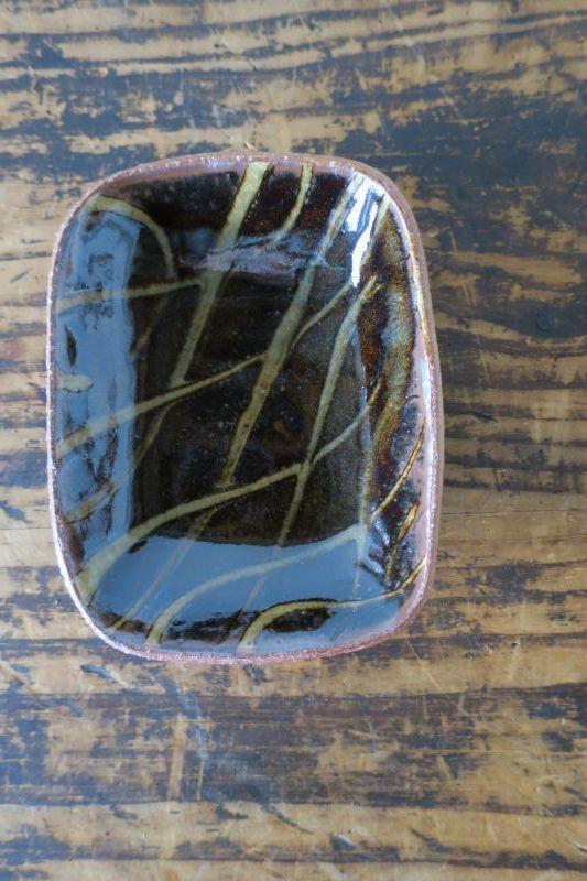 画像1: 前野直史 スリップウェア 角鉢 5