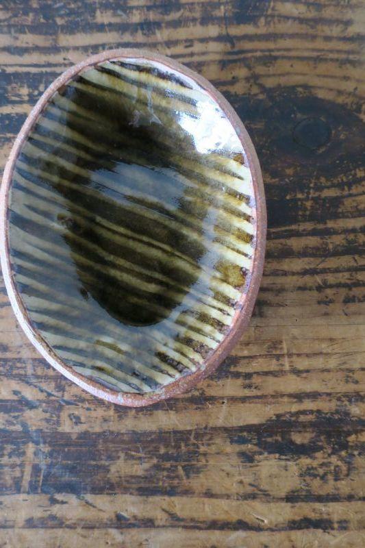 画像1: 前野直史 スリップウェア 楕円鉢 1
