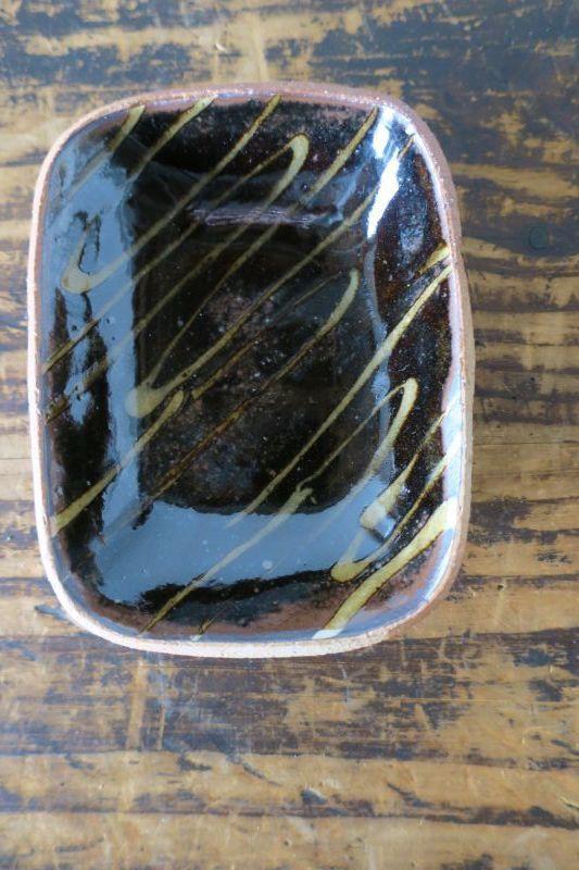 画像1: 前野直史 スリップウェア 角鉢 6