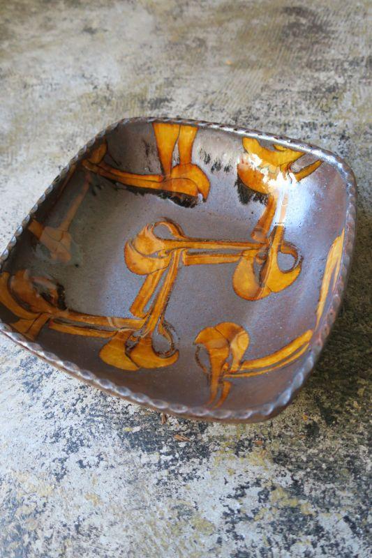 画像1: 小代焼ふもと窯 角鉢