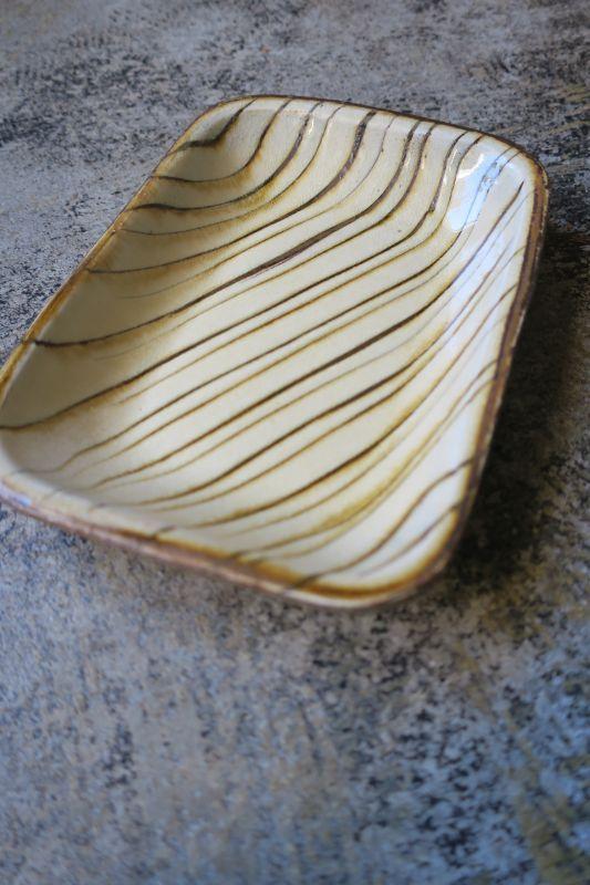 画像1: 小代焼ふもと窯 長方皿(小)2