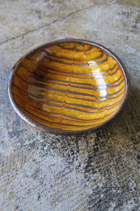 画像1: 小代焼ふもと窯 スリップ4.5寸鉢 8