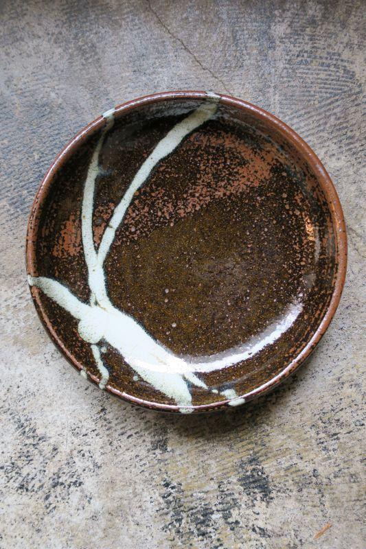 画像1: 小代焼ふもと窯 七寸皿(6)