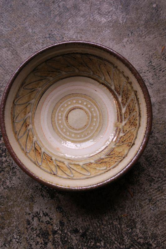 画像1: 小代焼ふもと窯 7寸鉢(1)