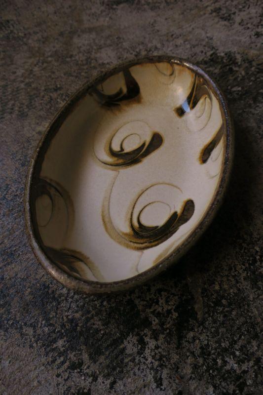 画像1: 小代焼ふもと窯 オーバル小 4