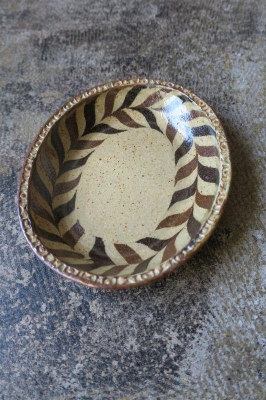 画像1: 掛谷康樹 練上手楕円皿