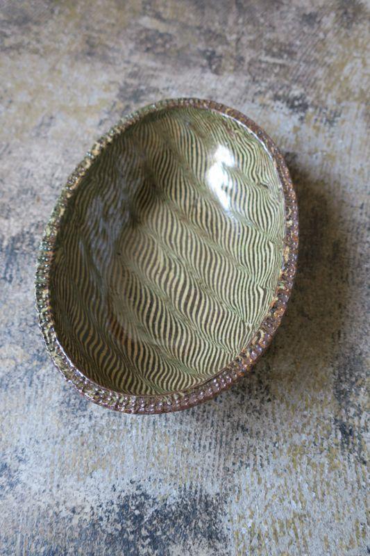 画像1: 掛谷康樹 練上手楕円深鉢