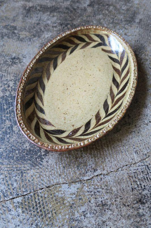 画像1: 掛谷康樹 練上手楕円皿(8.5寸)