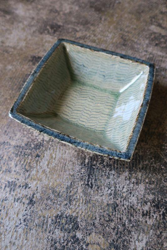 画像1: 掛谷康樹 練上手角鉢(5寸)