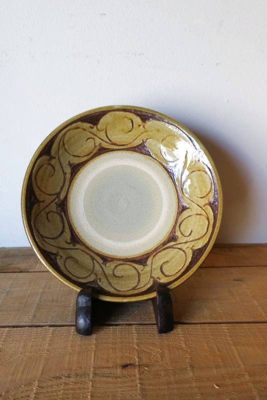 画像1: 田村窯 8寸皿 2